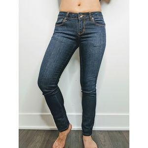 Low Rise Dark Wash Skinny Jeans